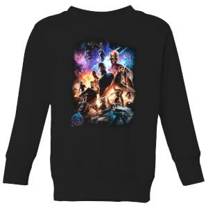 Sweat-shirt Avengers Endgame Character Montage - Enfant - Noir