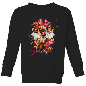 Avengers Endgame Distressed Thanos Kids' Sweatshirt - Black