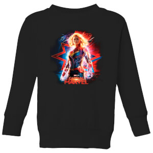 Captain Marvel Poster Kids' Sweatshirt - Black