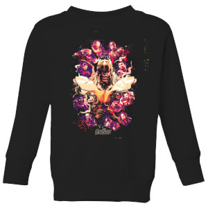 Avengers Endgame Splatter Kids' Sweatshirt - Black