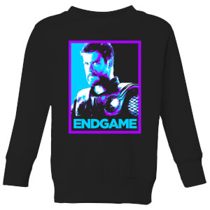Avengers Endgame Thor Poster Kids' Sweatshirt - Black