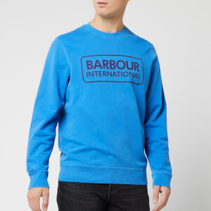 Barbour International Men's Kit Pigment Crew Jumper - Brit Blue