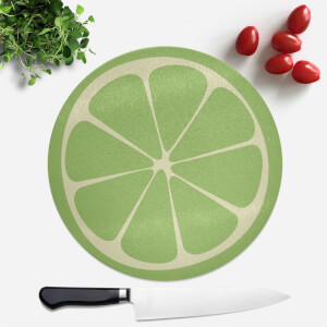 Lime Round Chopping Board