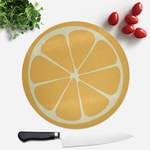 Orange Round Chopping Board