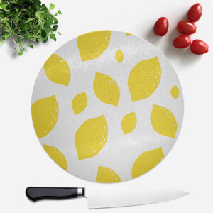 Lemon Pattern Round Chopping Board