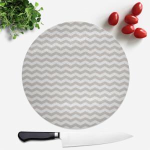 Grey Zig Zag Pattern Round Chopping Board