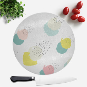 Multicolour Blobs And Dots Pattern Round Chopping Board