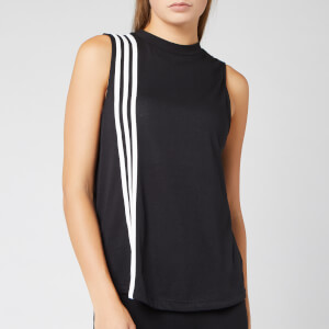 adidas Women's 3 Stripe Tank Top - Black