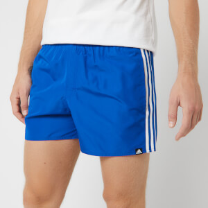 adidas Men's 3 Stripe Swim Shorts - Blue