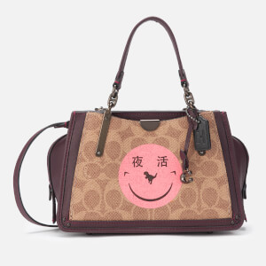 Coach 1941 Women's Coated Canvas Signature Rexy by Yeti Out Dreamer 21 Bag - Tan Oxblood