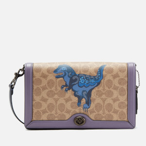 Coach 1941 Women's Coated Canvas Signature Rexy by Zhu Jingyi Riley Cross Body Bag - Tan Dusty Lavender