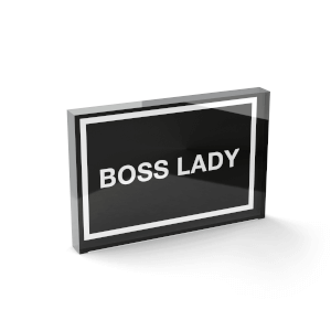 Glass Block Boss Lady Glass Block - 80mm x 60mm