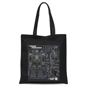 Transformers Optimus Prime Schematic Tote Bag - Black