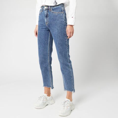 Tommy Hilfiger Women's Classic Straight High Waisted Jeans - Mela