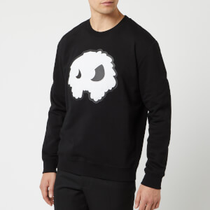 McQ Alexander McQueen Men's Monster Big Crew Neck Sweatshirt - Darkest Black