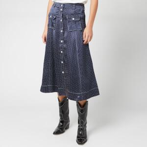 92099915f8 Ganni Women's Heavy Satin Skirt - Total Eclipse