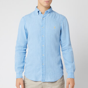 Polo Ralph Lauren Men's Slim Fit Linen Shirt - Riviera Blue