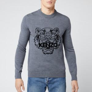 KENZO Men's Tiger Head Knit Jumper - Pale Grey