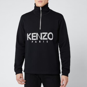 KENZO Men's Paris Half Zip Sweatshirt - Black