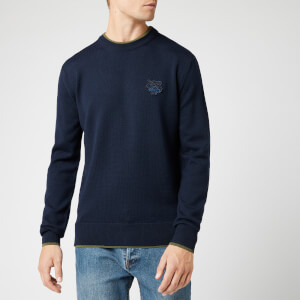 KENZO Men's Tiger Crest Knit Jumper - Navy Blue