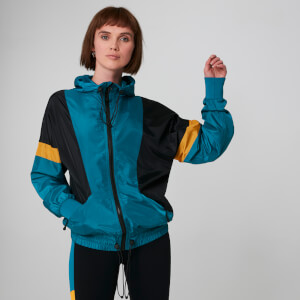Colour Block Windbreaker - Blå