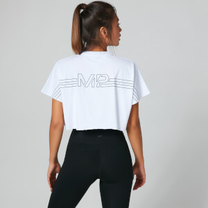 MP Branded Crop Top - White