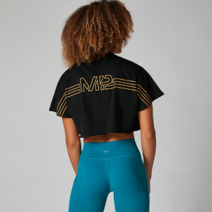 Logo Crop Top - Zwart