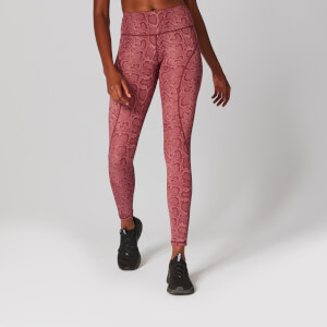 Snake Print Leggings - Roze