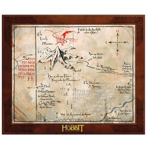 Riproduzione della mappa di Thorin Scudodiquercia di Lo Hobbit