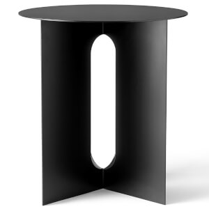 Menu Androgyne Side Table - Steel Base - Black