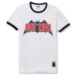 Batman 80th Anniversary 70s Super Ringer T-Shirt - White/Black
