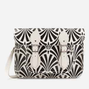 "The Cambridge Satchel Company Women's 11"" Satchel - Black Deco Print"