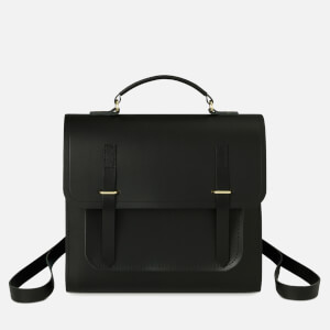 The Cambridge Satchel Company Women's Bridge Closure Backpack - Dark Brown/Black