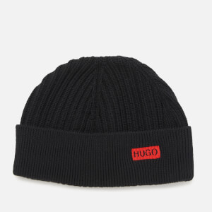 HUGO Men's Xianno 2 Rib Beanie - Black