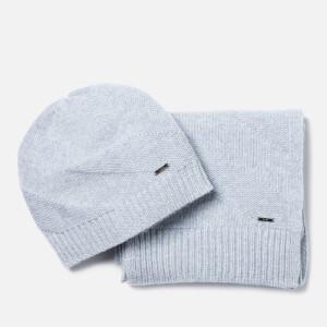 HUGO Men's Zanto Beanie and Scarf Gift Set - Grey