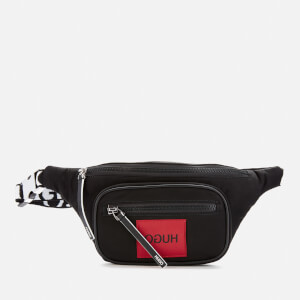 HUGO Men's Record Patch and Strap Logo Bumbag - Black/Red Patch