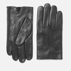 BOSS Men's Grifin Soft Waxed Nappa Gloves - Black