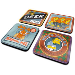 The Simpsons (Moes Tavern) 4 Coaster Set