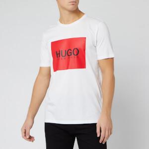 HUGO Men's Dolive Box Logo T-Shirt - White