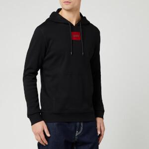 HUGO Men's Daratchi Box Logo Hoodie - Black/Red