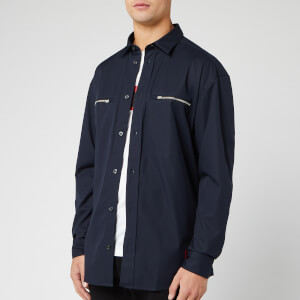HUGO Men's Etrus Zip Overshirt - Navy