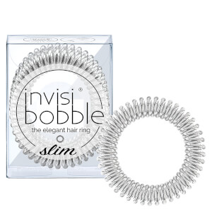 invisibobble Slim Elegant Hair Ties - Chrome (Pack of 3)