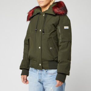 KENZO Women's Technical Outerwear Nylon Parka - Khaki