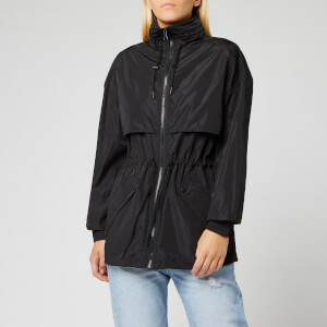 KENZO Women's Light Nylon Wind Breaker Jacket - Black