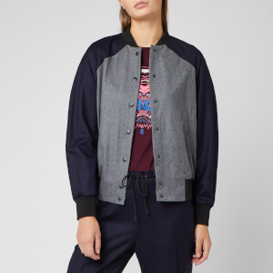 KENZO Women's Flannel Bomber Jacket - Medium Grey