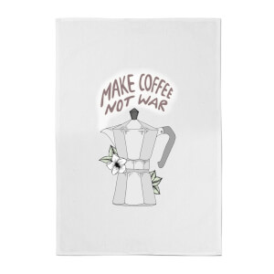 Barlena Make Coffee Not War Cotton Tea Towel