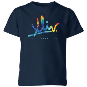 How Ridiculous XLIV Script Tie-Dye Kids' T-Shirt - Navy