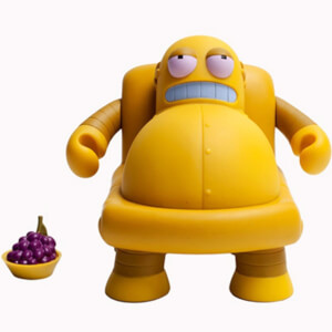 Kidrobot x Futurama Hedonism Bot 6 Inch Collectible Figure