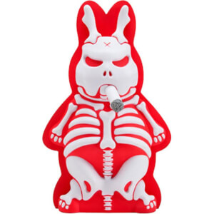 Kidrobot Kozik Skeleton Labbit Under The Bed Black Edition 10 Inch Vinyl Figure