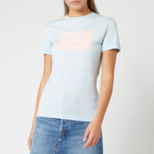 Calvin Klein Jeans Women's Institutional Box Slim Fit T-Shirt - Skyway